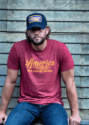 We Grow Beer Trucker Denim Hat - Classic
