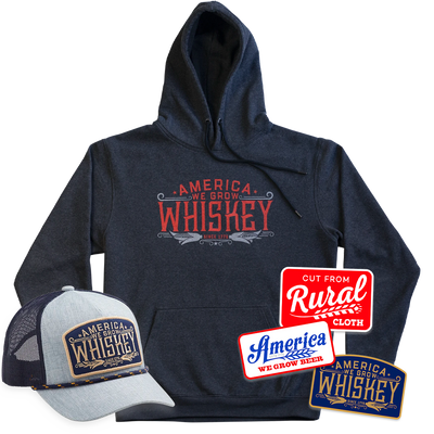 We Grow Whiskey Pullover + We Grow Whiskey Hat + Decal 3-Pack Discounted Bundle