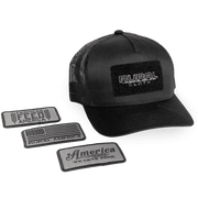 QUAD Hat & 3 Interchangeable Patches - Blackout