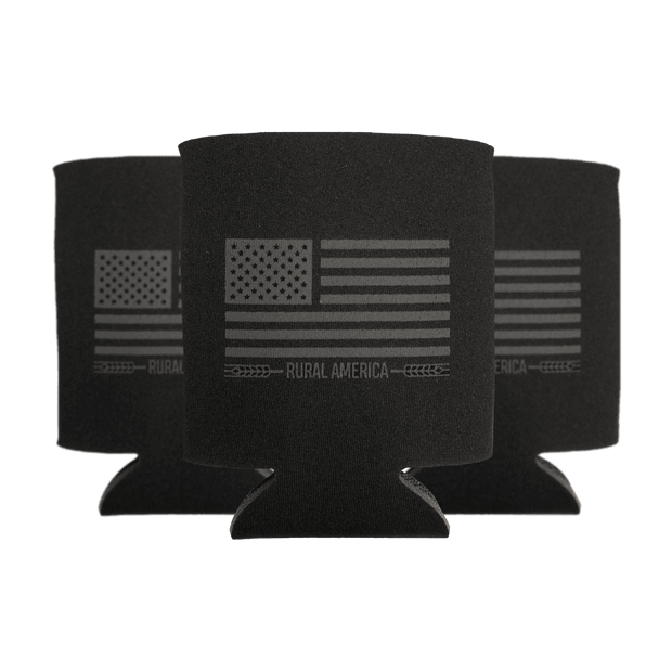 Black Out Flag Can Sleeve - 3pk
