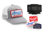 Blue We Grow Beer T-Shirt + Tractor Patch Hat Discounted Bundle