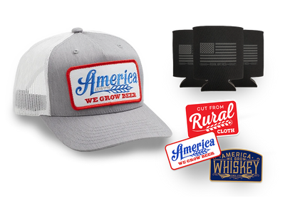 Gray We Grow Beer Hat + Decal 3-Pack + Can Sleeve 3-Pack Discounted Bundle