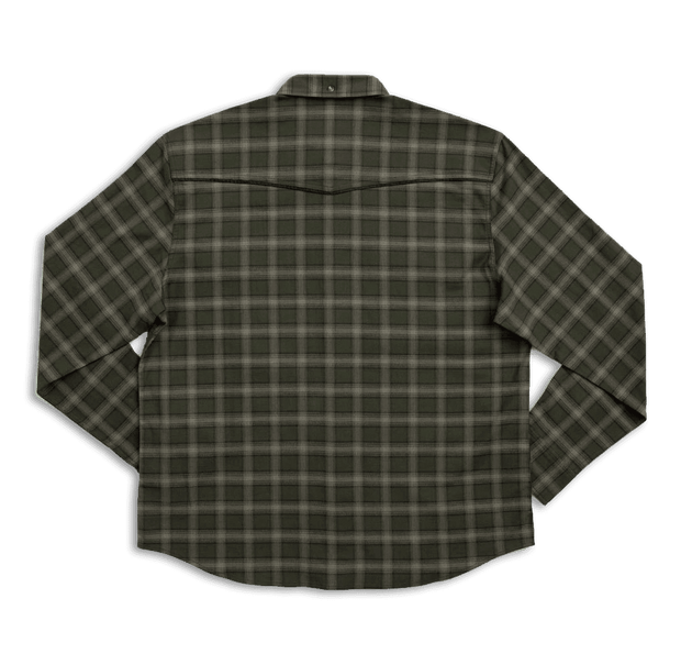 Western Stretch Flannel | Olive