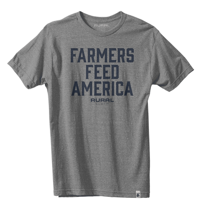 Farmers Feed America Tee - Heather Gray