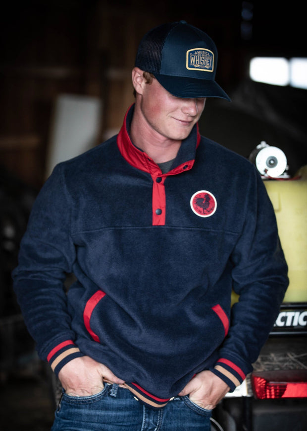 Icon 1/4 Snap Fleece - Navy