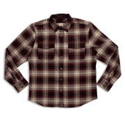 Foreman Stretch Flannel | Red & Tan