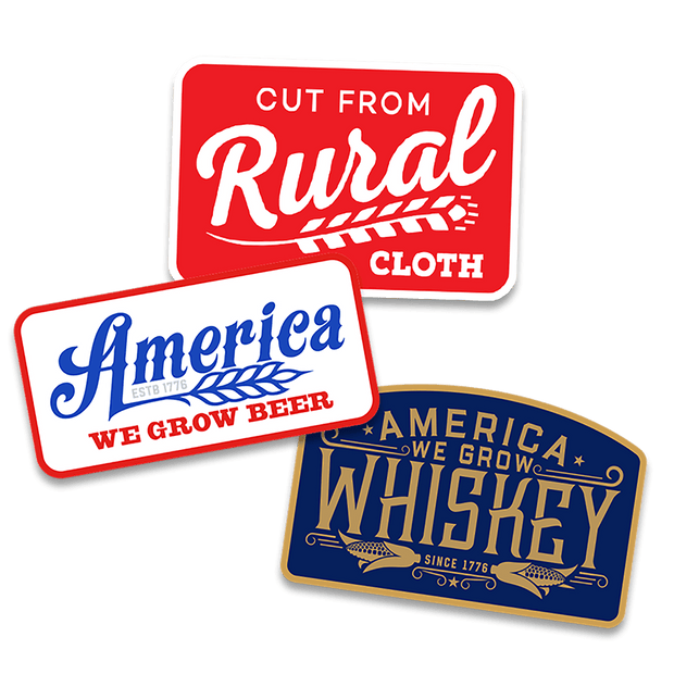 Rural Cloth Decal 3-Pack