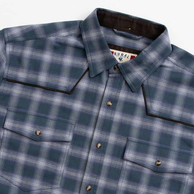 Western Stretch Flannel | Blue