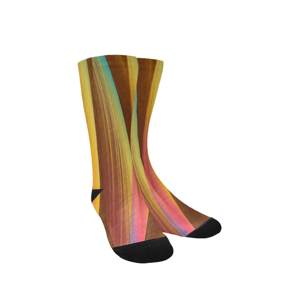 Brown multi-color women socks