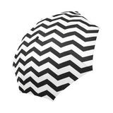 Black and white chevron automatic foldable umbrella