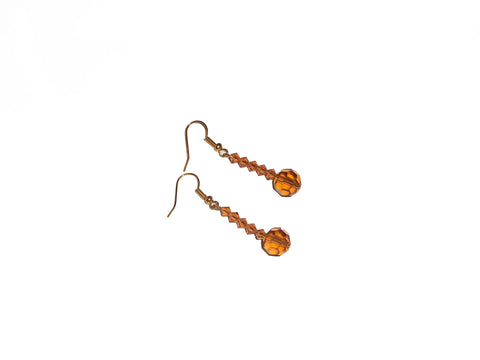 Topaz Swarovski fashion drop earrings