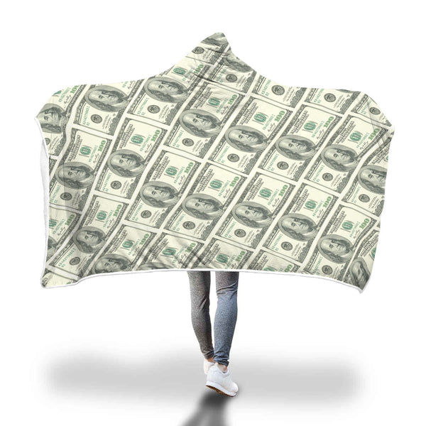 Money hooded blanket