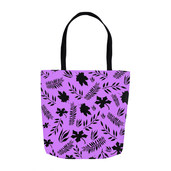 Purple leaf tote bag