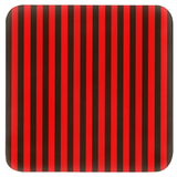 Red and black stripe coasters in sets of 4 and sets of 6