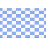 Blue checkered placemats