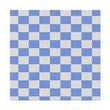 Blue checkered cloth napkins
