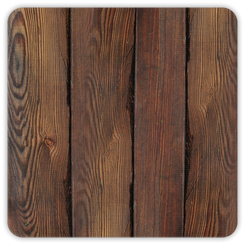 Wood pattern premium coasters - set of 4