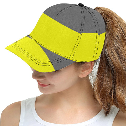 Yellow and Gray Snapback Cap