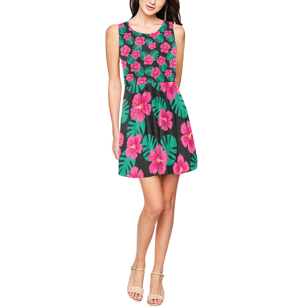 Floral sleeveless skater dress