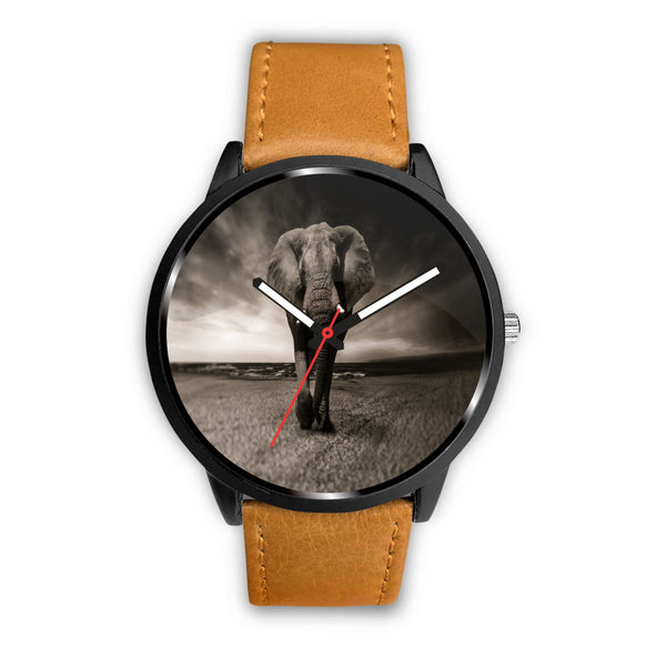 Leather elephant watches for men and women