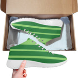 Green striped basketball training shoes
