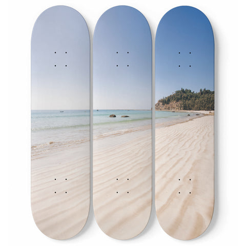 Sand and beach skateboard wall art