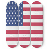 USA flag skateboard 3pc set