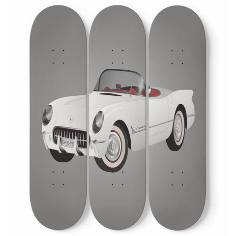 Chevy Corvette skateboard wall art 3pc set