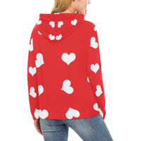 Red hearts hoodie
