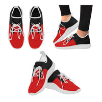 Black and red women's runnung shoes