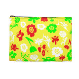 Floral accessory pouch, makeup bag