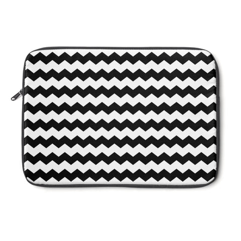 Black and white chevron laptop sleeve