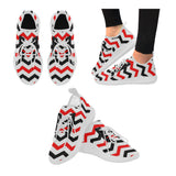 Red and Black Chevron Women Running Shoes