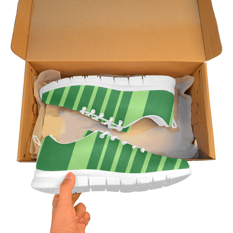Green breathable sneakers