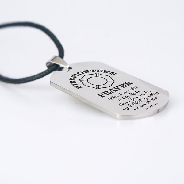 Firefighter Prayer Dogtag