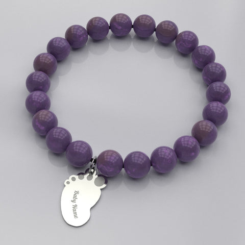 Baby Foot Bracelet - Available in Tigereye & Amethyst