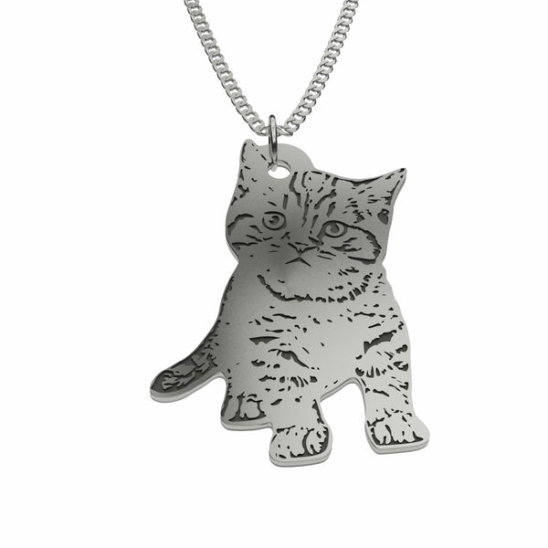 Pet Photo Silhouette Pendant Necklace