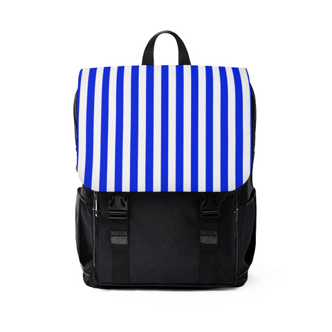 Blue and White Shoulder Backpack Purse