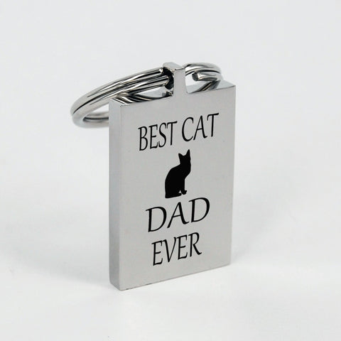 Keychain for the Best Cat Dad Ever