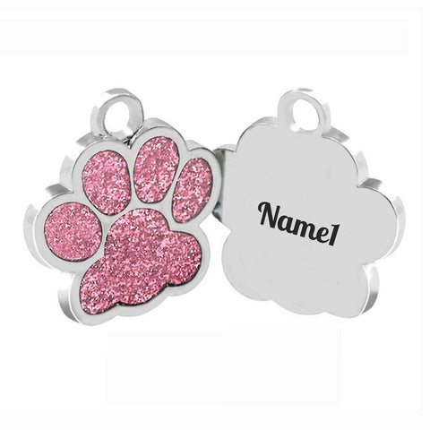 Engraved Dog Paw Nametag