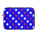 Red white and blue star laptop sleeve