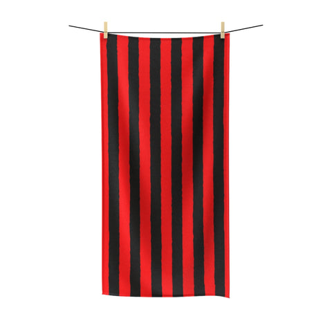 Red and Black Polycotton Towel