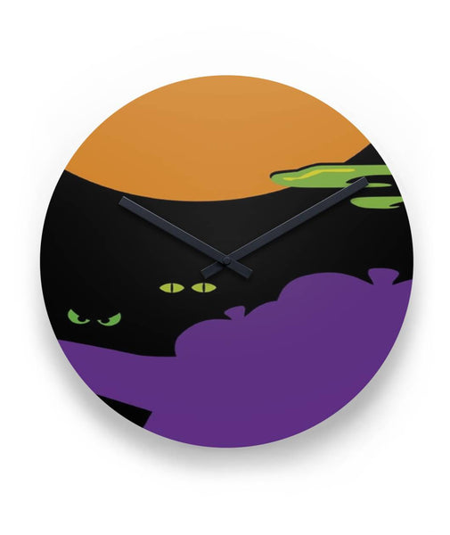 "Halloween night  11"" round wall clock"
