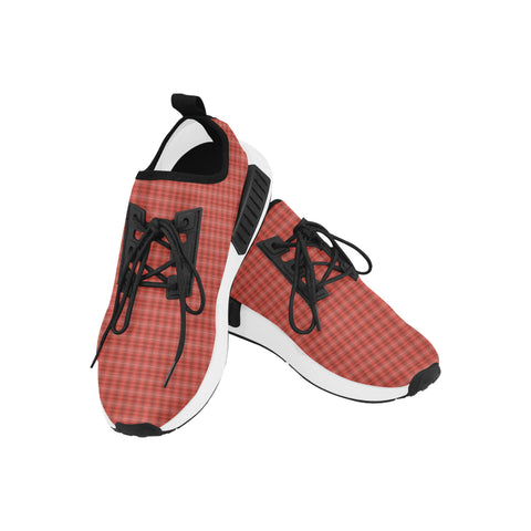Red plaid draco men sneakers