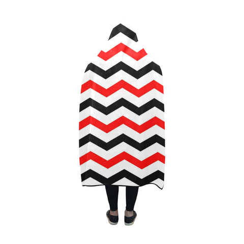 Red and black hooded blanket 60x50