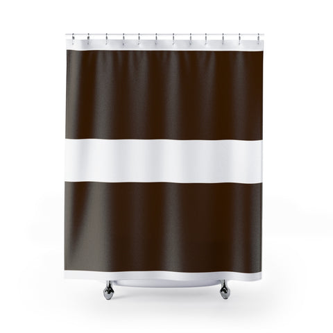 Brown shower curtains 71x74 inches