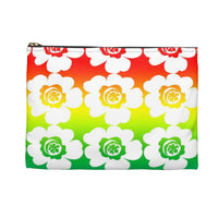 Floral accessory make up pouch