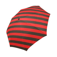 Red and black automatic foldable umbrella
