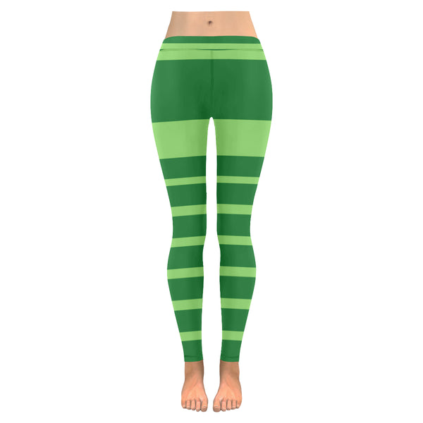 Green low rise leggings
