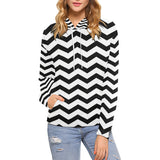 Black and white chevron hoodie